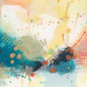 Coral Original Abstract Art by Sue Kemnitz