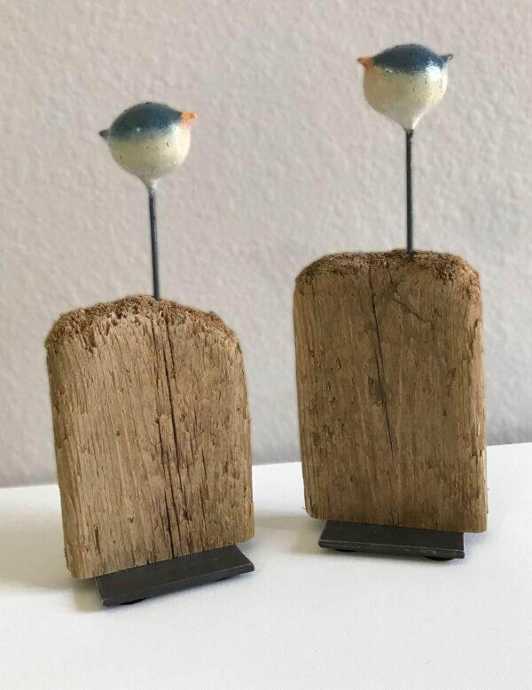 Junco bird sculpture by Sue Kemnitz