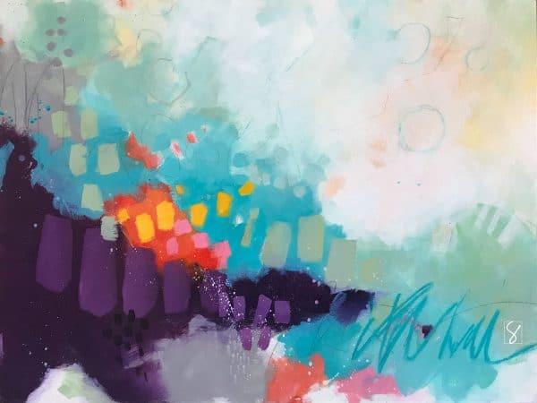 Sunflower Daze - an original acrylic painting by artist Sue Kemnitz